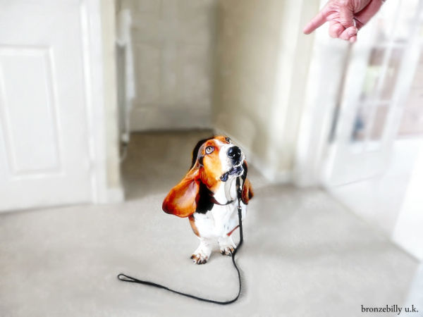 dog walkies hand bronzebilly