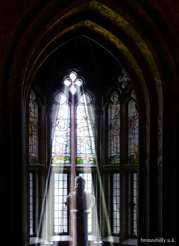 window lightrays castle library bronzebilly
