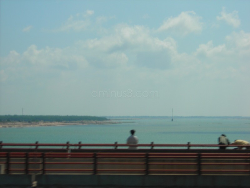 River Krishna of Vijayawada from road bridge