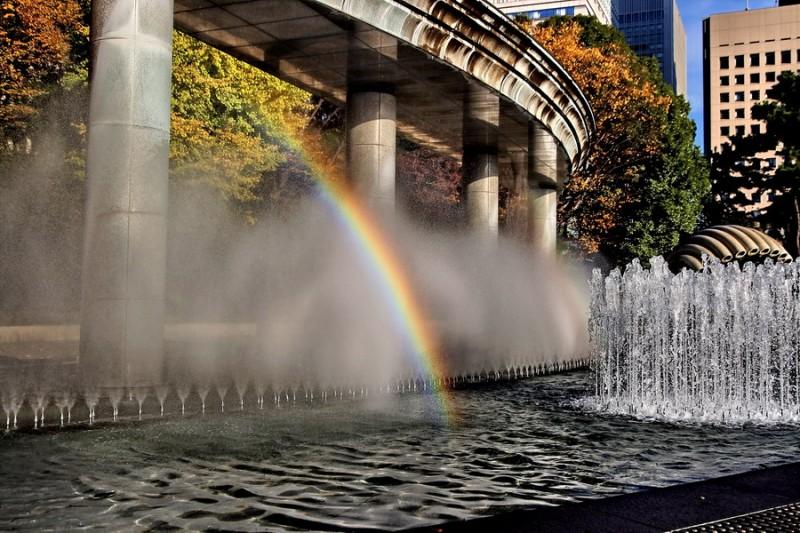 Fountain's rainbows
