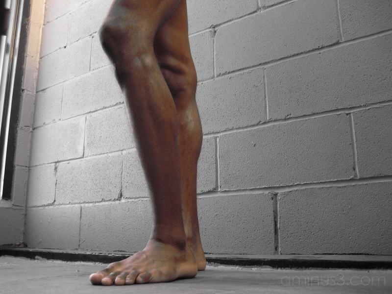 ...knees...