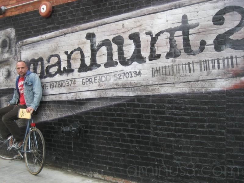 ...man on a bike (hunting)...