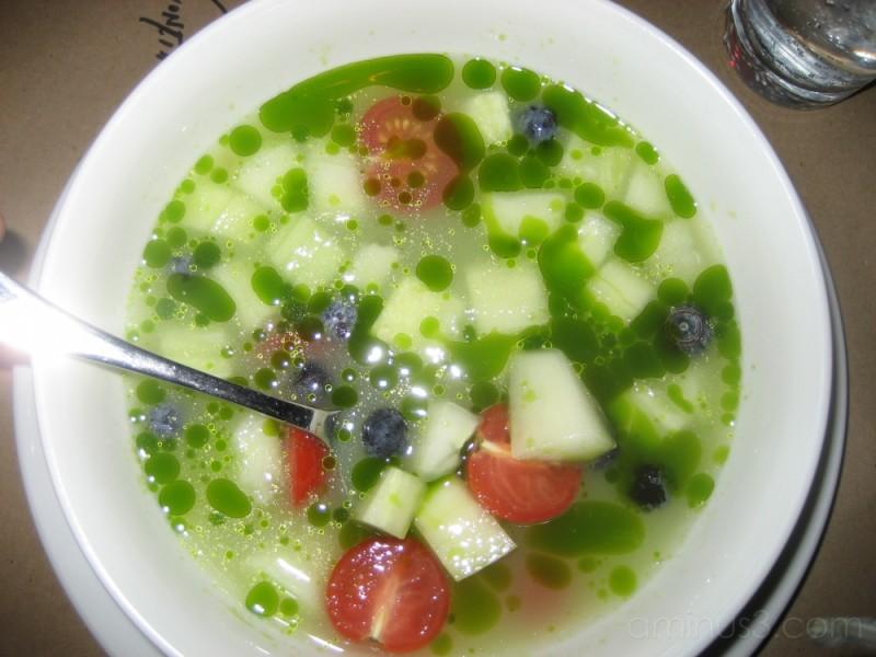 ...cold soup...