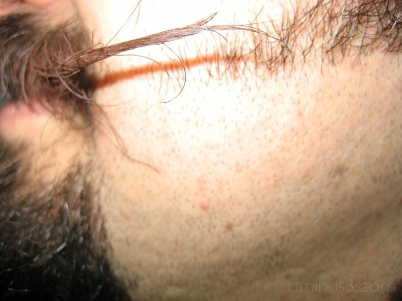 ...facial hair...