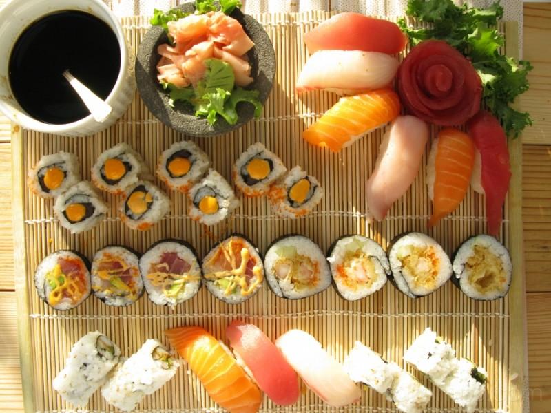 ...sushi...