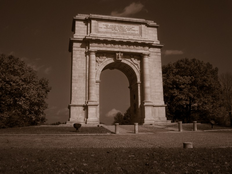 This arch is in the middle of Valley Forge Park