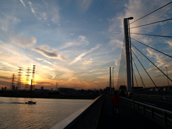 Sunset Bridge Crossing
