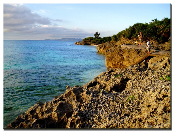 Okinawa coast Japan