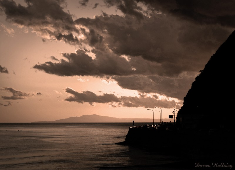 Zushi sunset tokyo kanagawa japan Darren Halliday