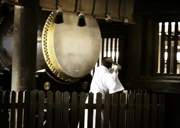 Drum Beat Meiji Jingu Tokyo Japan Darren Halliday