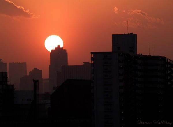 Sunset City Tokyo Japan Darren Halliday Photograph
