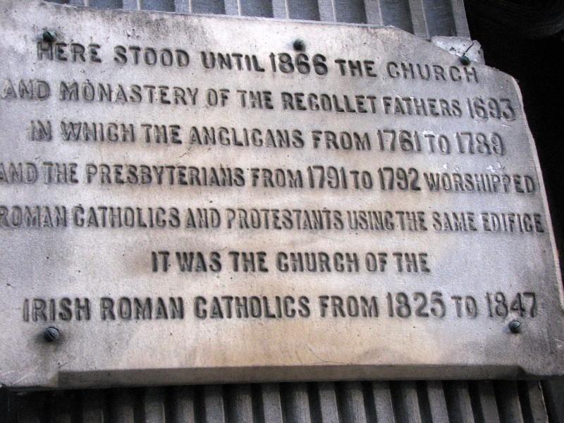 plaque church
