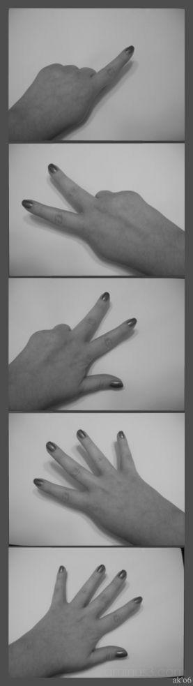 hand in 5 ways