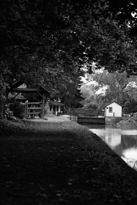 Delaware Canal Towpath and Lockhouse