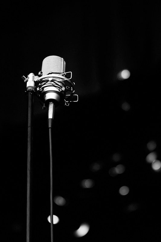 Microphone from the concert.