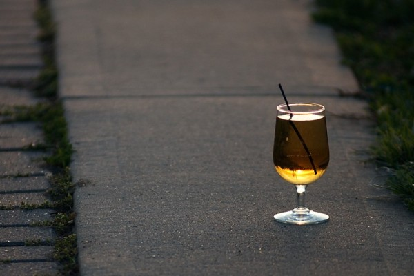 Abandoned Wine Glass