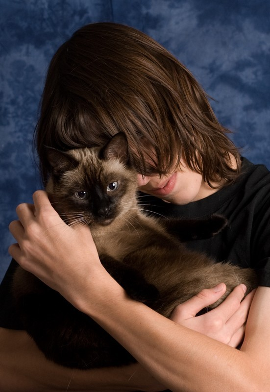 Jon and his cat Missy
