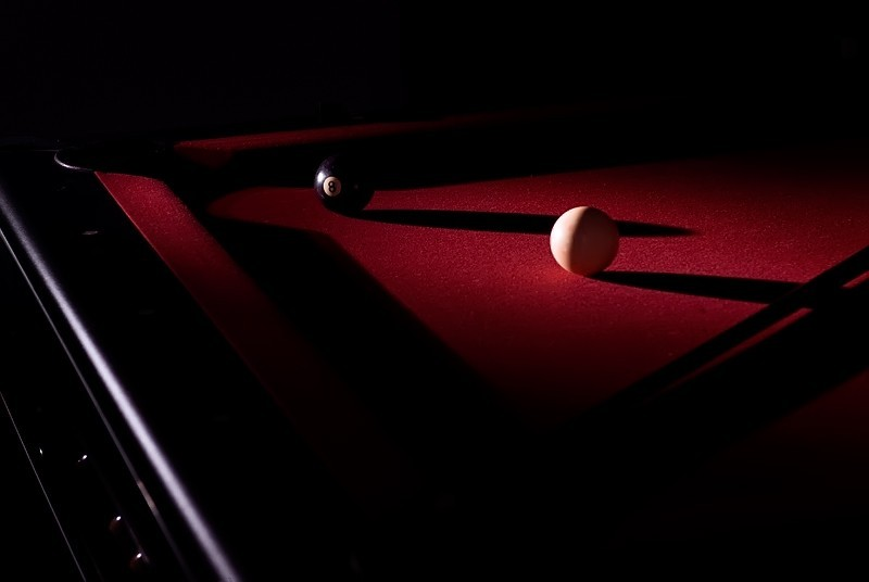 Pool Table with long shadows