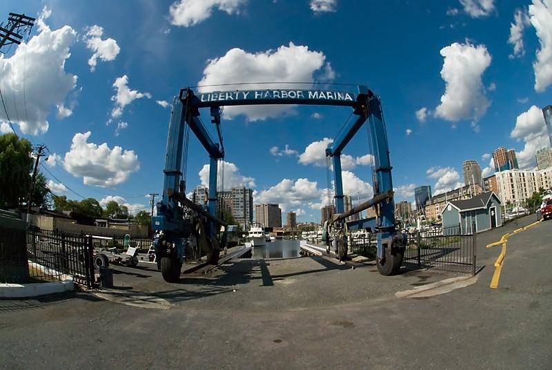 Liberty Harbor Marina Jersey City boat lift