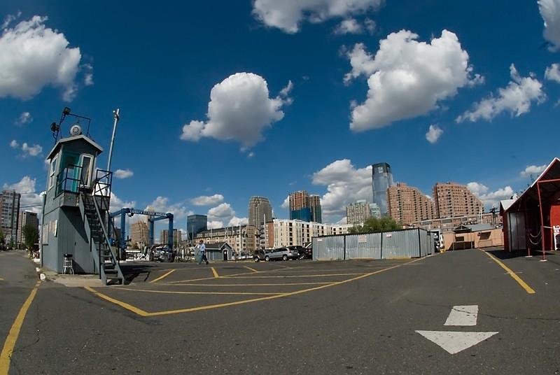 Liberty Harbor Marina Jersey City guard shack