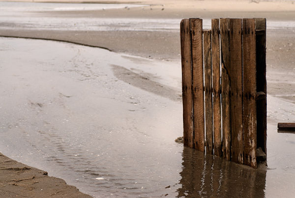 Pallet Stuck in the Beach at Sandy Hook