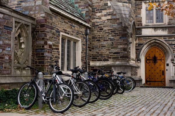 Bicycle parking on Princeton Campus