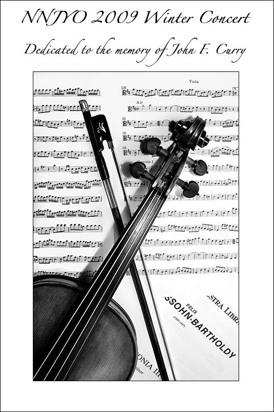 NNJYO 2009 Winter Concert Program Cover