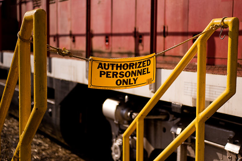 Authorized Personnel Only sign Ringoes NJ
