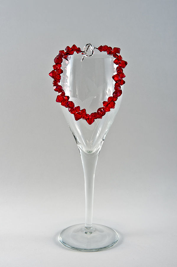 Jewelry Photography Bracelet on Wine Glass