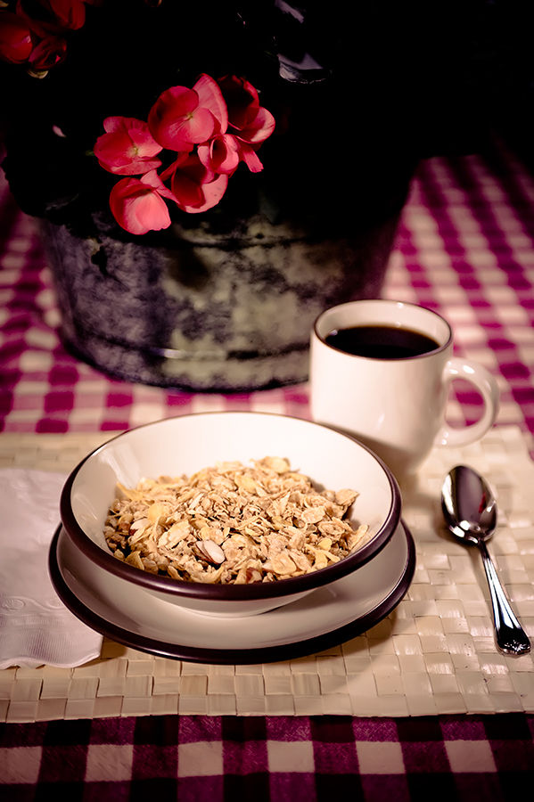 Honey Bunches of Oats Cereal and Coffee