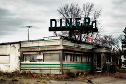 Old decayed abandoned New Jersey diner