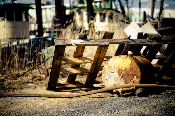 Garbage and junk at the fishing docks