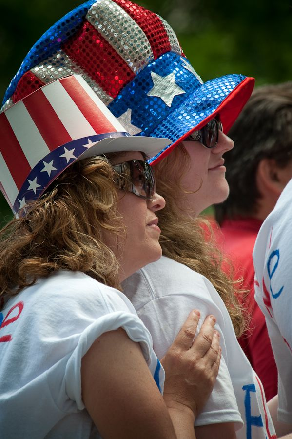 Patriotic women Morristown NJ July 4th Tea Party