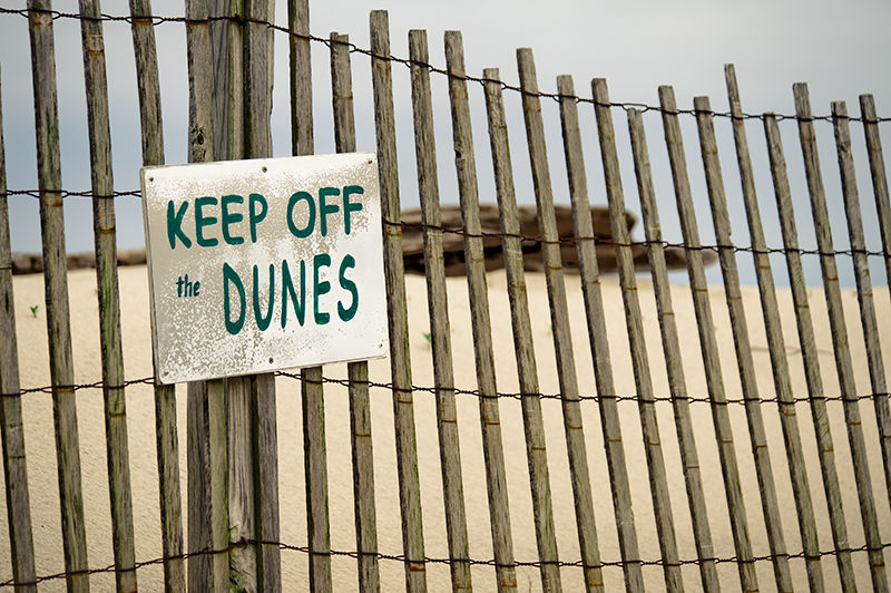 Keep off the Dunes Sign in Point Pleasant Beach NJ