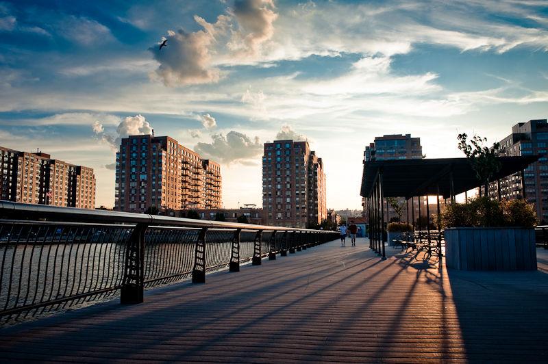 Long Shadows in Hoboken