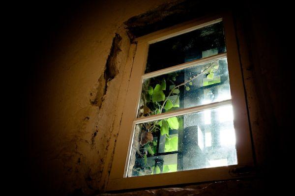 window at Burlington county prison museum