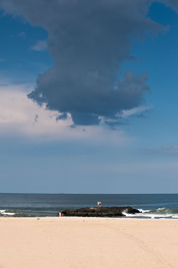 Clouds looming above Asbury Park Jetty