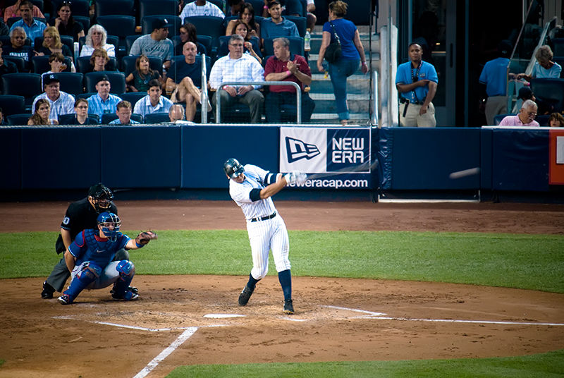 NY Yankee A-Rod getting a hit