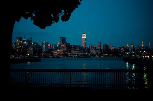 Empire State building ny skyline from Hoboken