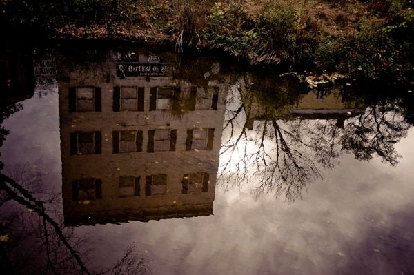 reflections in the Delaware Raritan Canal New Hope