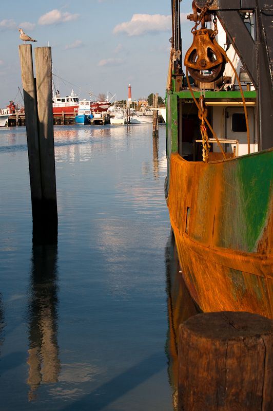 Fishing docks in Long Beach Island NJ