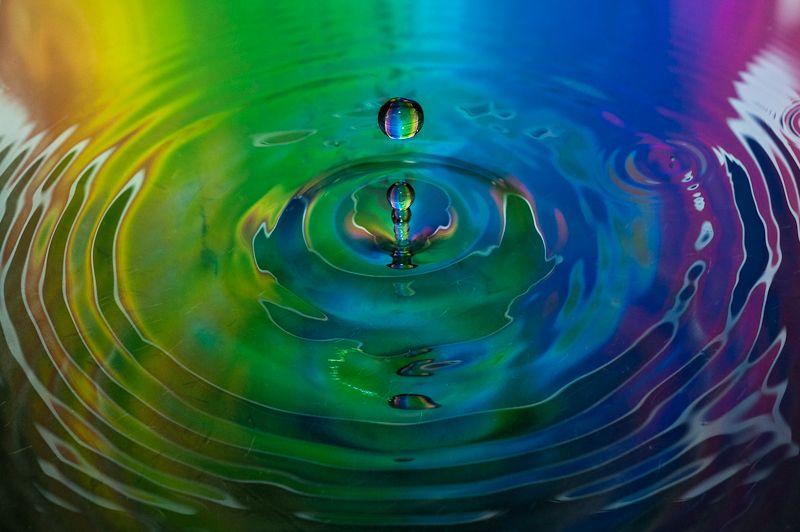 water droplets 2 rainbow