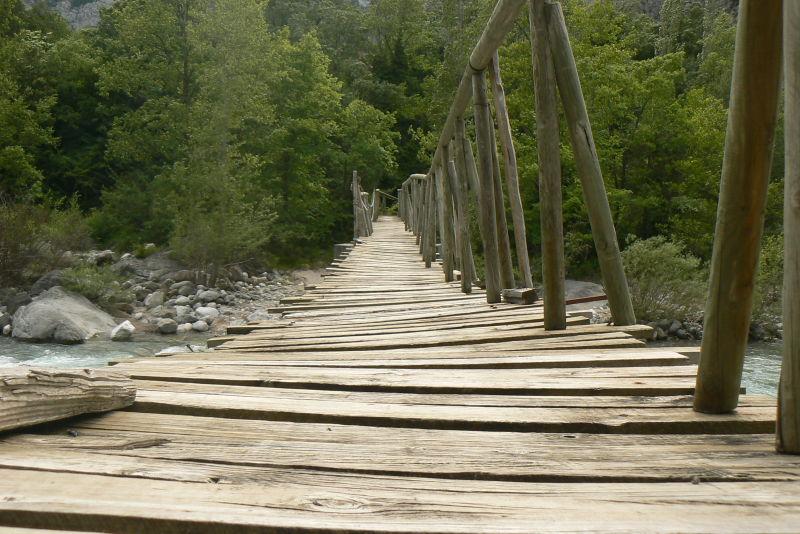 puente, rio, huesca, pirineos