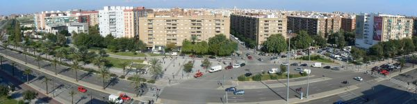 view, panoramic, valencia