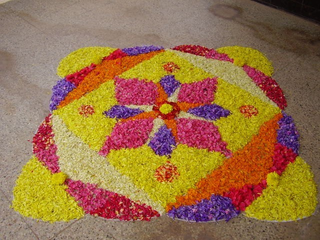 Latest Rangoli Designs Flower Patterns Festival Rangoli