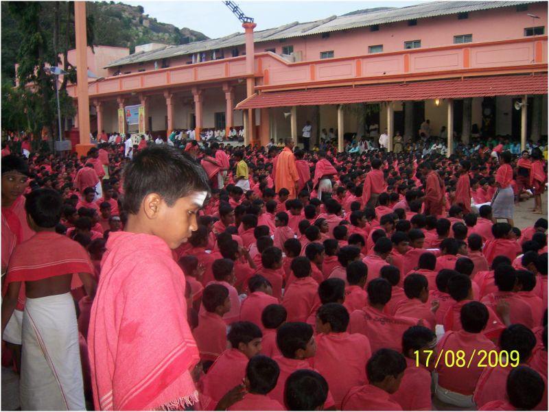 During prayer @ Siddhaganga Mutt