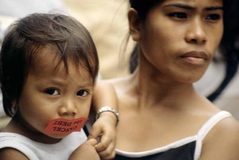 Anti-debt protest, Manila, the Philippines