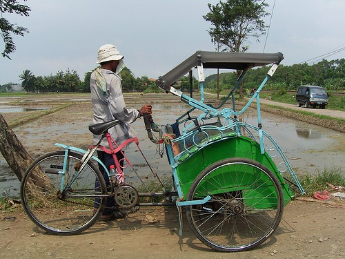 Becak, West Java
