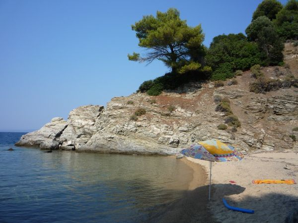 One of the beautiful beaches of Halkidiki, Greece