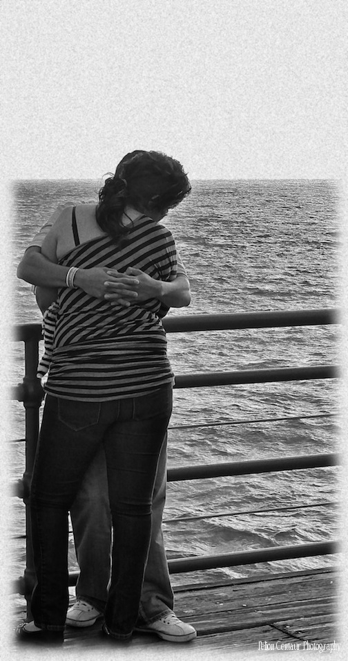 Couple at Santa Monica pier